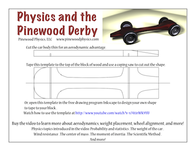 customizable pinewood derby car template